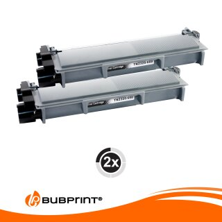Bubprint 2 Toner black kompatibel für Brother TN-2320 TN-2310