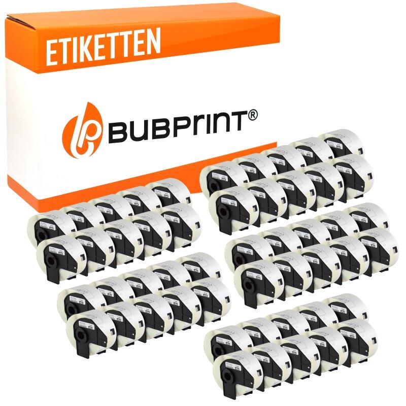 Bubprint 50x Rollen Etiketten kompatibel für Brother DK-11208 #1208 38x90mm