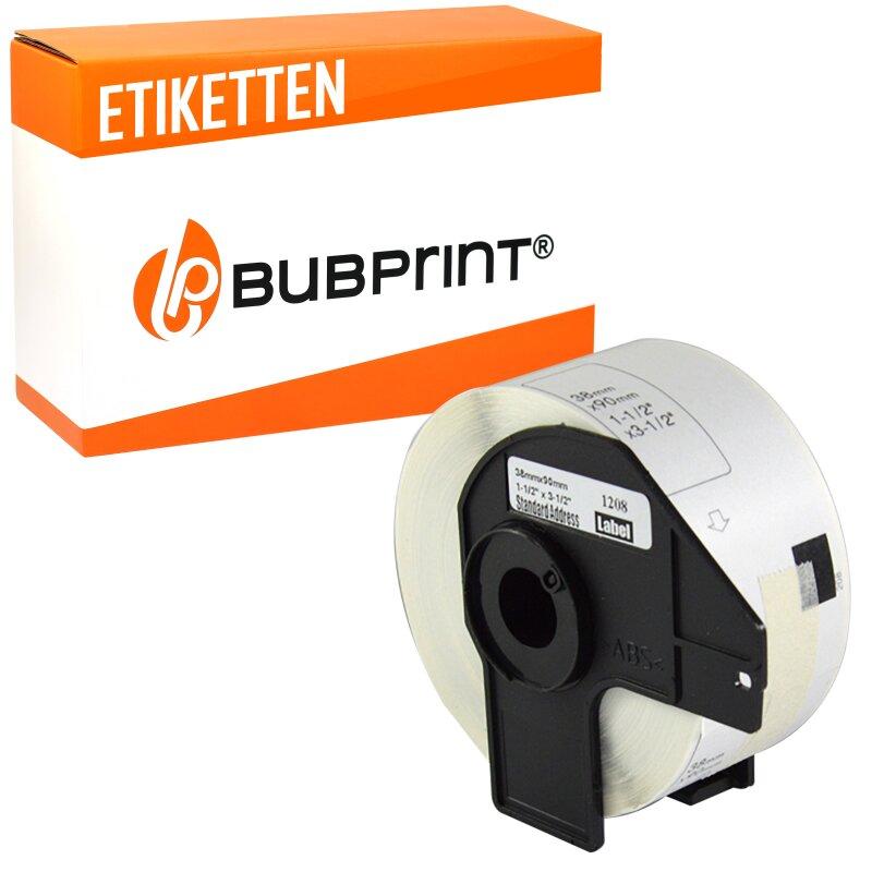 Bubprint Etiketten kompatibel für Brother DK-11208 #1208 38x90mm