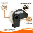 Bubprint 10x Rollen Etiketten kompatibel für Brother DK-11204 #1204 17mm x 54mm