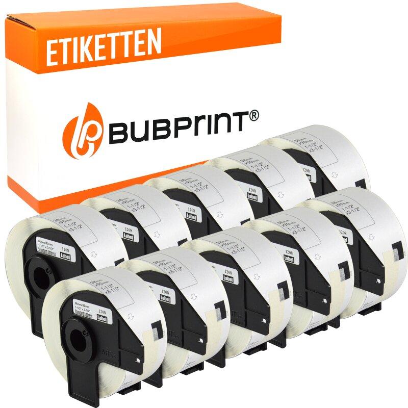Bubprint 10x Rollen Etiketten kompatibel für Brother DK-11208 #1208 38x90mm