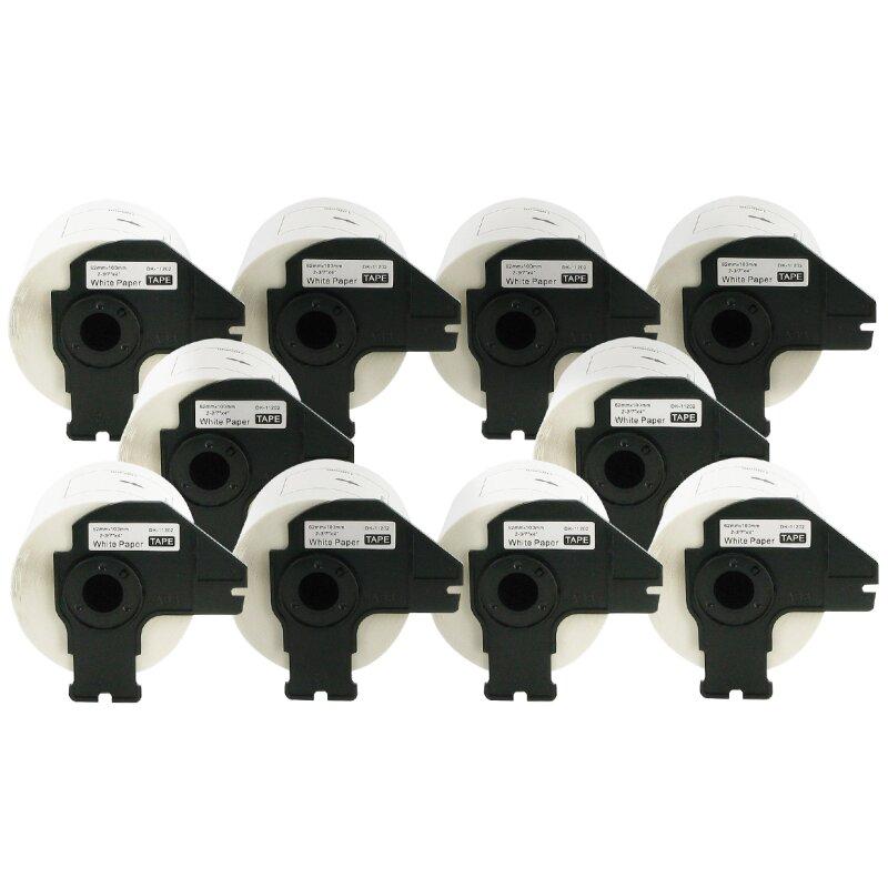 Bubprint 10x Rollen Etiketten kompatibel für Brother DK-11202 #1202 62x100mm