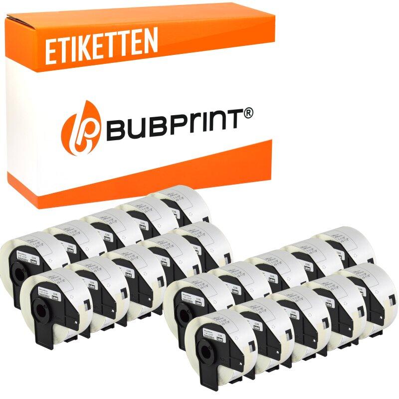Bubprint 20x Rollen Etiketten kompatibel für Brother DK-11208 #1208 38x90mm