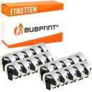 Bubprint 20x Rollen Etiketten kompatibel für Brother...