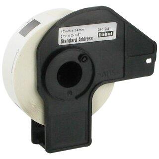 Bubprint 50x Rollen Etiketten kompatibel für Brother DK-11204 #1204 17mm x 54mm