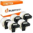 Bubprint 5x Rollen Etiketten kompatibel für Brother...