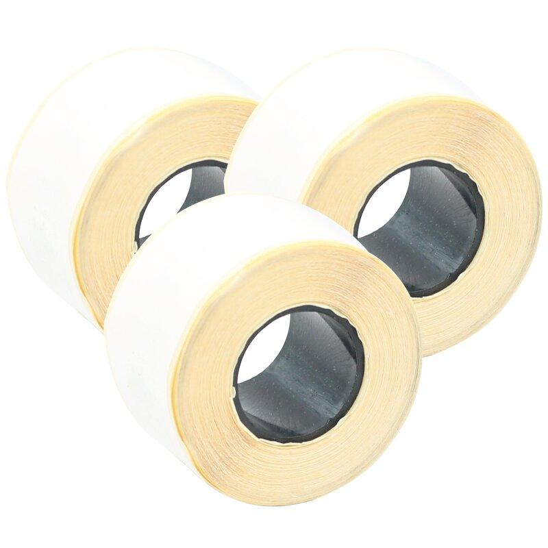 Bubprint 3x Rollen Etiketten kompatibel für Dymo 99010 S0722370 89x28mm, weiss