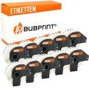 Bubprint 10x Rollen Etiketten kompatibel für Brother...