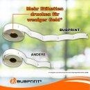 Bubprint 40x Etikettenrollen kompatibel für Dymo 11352 25x54mm