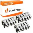 Bubprint 30x Rollen Etiketten kompatibel für Brother...