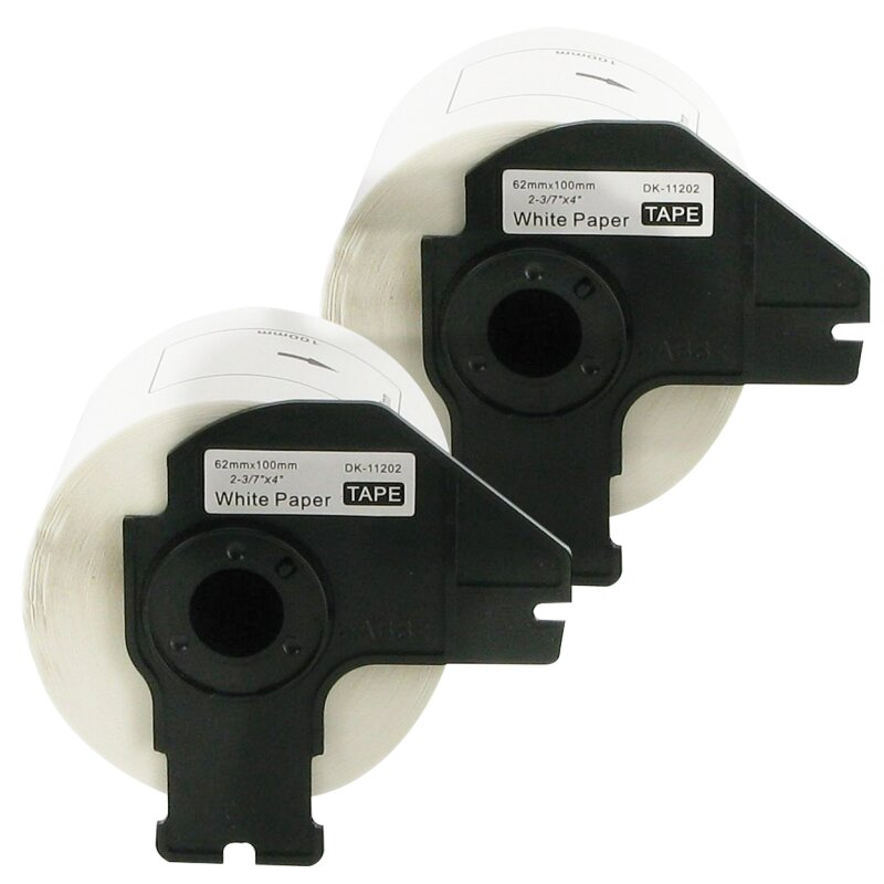 Bubprint 2x Rollen Etiketten kompatibel für Brother DK-11202 #1202 62mm x 100mm