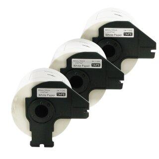 Bubprint 3x Rollen Etiketten kompatibel für Brother DK-11202 #1202 62mm x 100mm