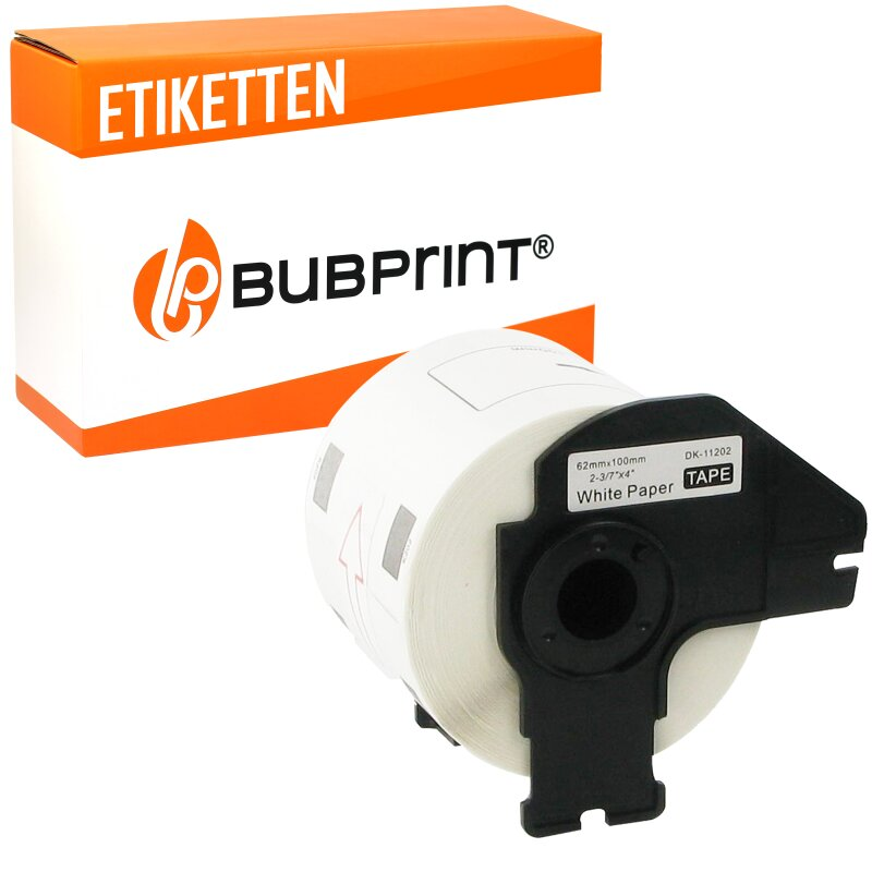 Bubprint Etiketten kompatibel für Brother DK-11202 #1202 62mm x 100mm