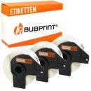 Bubprint 3x Rollen Etiketten kompatibel für Brother...