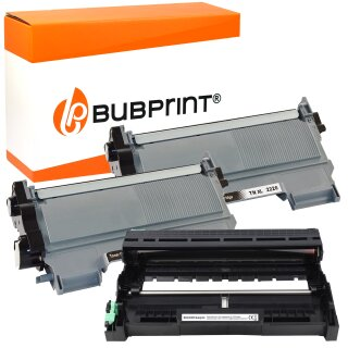 2x Toner (2.600 S) & Drum DR-2200 kompatibel für Brother TN-2220 / TN-2010 black für Brother DCP-7065 DN MFC-7860 DN DW