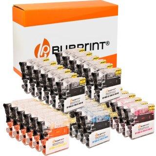 Bubprint 30 Druckerpatronen kompatibel für Brother LC1100 LC980 black cyan magenta yellow