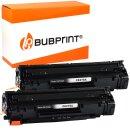 Bubprint 2x Toner kompatibel für HP CE278A black...
