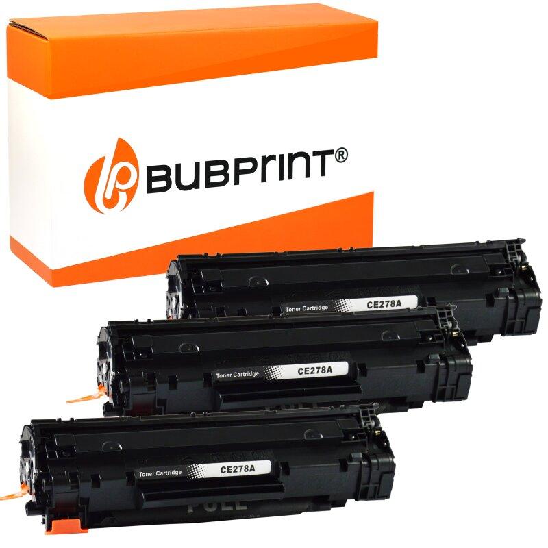 Bubprint 3x Toner kompatibel für HP CE278A black LaserJet P 1566 LaserJet Pro M 1530 MFP Series