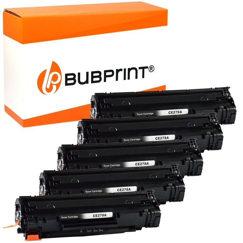 Bubprint 5x Toner kompatibel für HP CE278A black LaserJet P 1566 LaserJet Pro M 1530 MFP Series