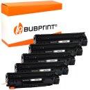 Bubprint 5x Toner kompatibel für HP CE278A black...