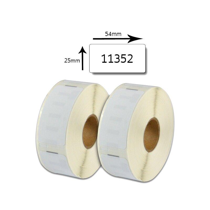 Bubprint 2x Etikettenrollen kompatibel für Dymo 11352 25x54mm