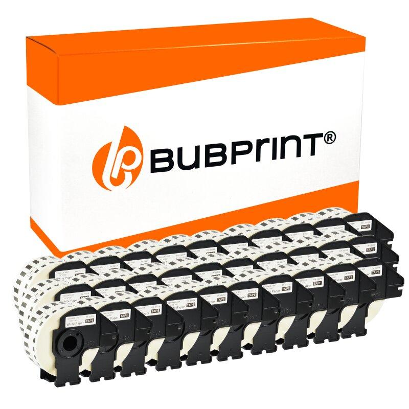 Bubprint 30x Rollen Etiketten kompatibel für Brother DK-22214 #2214 12mmx30,48m