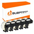 Bubprint 5x Rollen Etiketten kompatibel für Brother DK-22214 #2214 12mmx30,48m