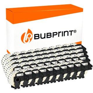 Bubprint 50x Rollen Etiketten kompatibel für Brother DK-22214 #2214 12mmx30,48m