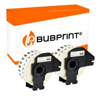 Bubprint 2x Rollen Etiketten kompatibel für Brother DK-22214 #2214 12mmx30,48m