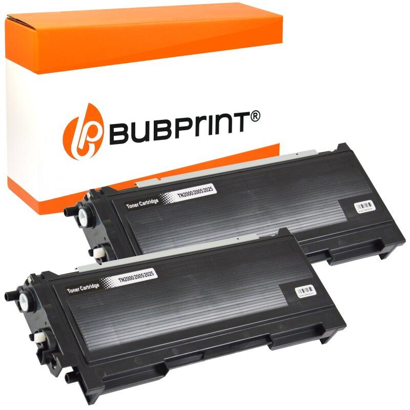 Bubprint 2x Toner kompatibel für Brother TN-2000 black DCP-7010 Fax 2920 ML