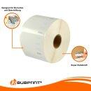 Bubprint 2x Etikettenrolle kompatibel für Dymo 11354 57x32mm (2x 1000 Rolle)