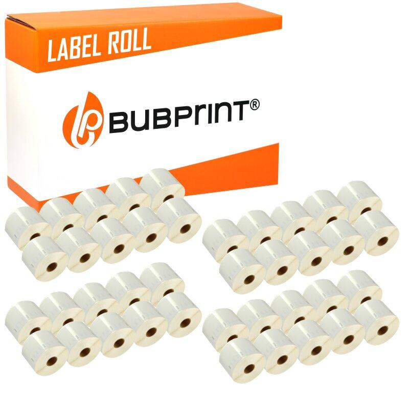 Bubprint 40x Etikettenrolle kompatibel für Dymo 11354 S0722540 57x32mm SET
