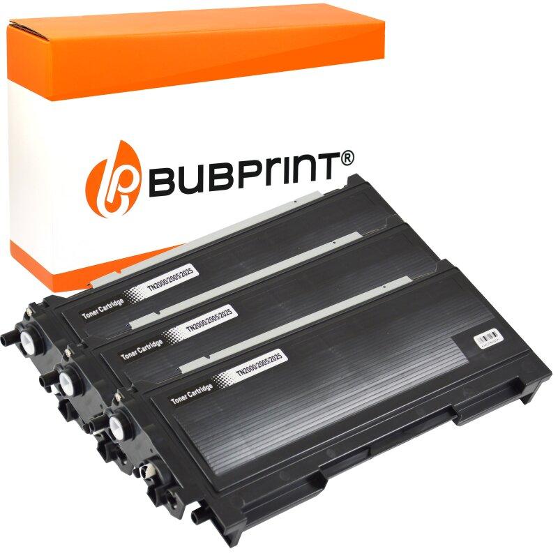 Bubprint 3x Toner kompatibel für Brother TN-2005 black HL 2035 HL 2037