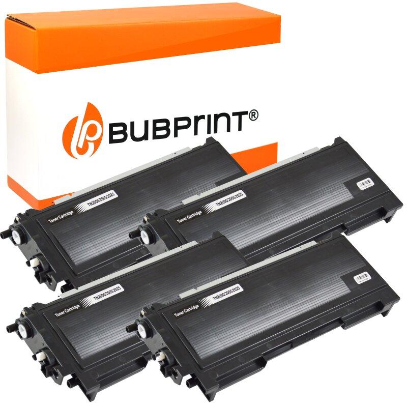 Bubprint 4x Toner kompatibel für Brother TN-2005 black HL 2035 HL 2037