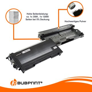 Toner kompatibel für Brother TN-2000 black & Drum DR-2000 DR-2005