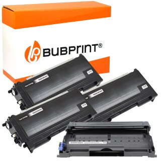 Bubprint 3x Toner kompatibel für Brother TN-2000 black & Drum DR-2000 DR-2005