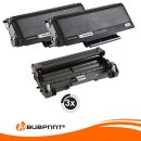 Bubprint 2x Toner kompatibel für Brother TN-3280 XXL black & Drum DR-3200