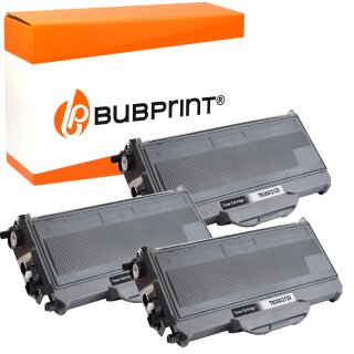 3x Toner kompatibel für Brother TN-2120 (2.600 S.) black DCP-7030 HL-2170