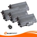 Bubprint 4x Toner kompatibel für Brother TN-2120 UHC (5.200S) black DCP-7030