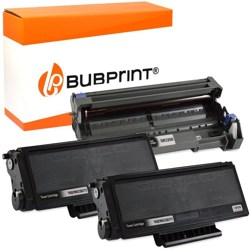 2 Bubprint Toner kompatibel für Brother TN-3170 black & Drum DR-3100 DCP-8020 HL-3145