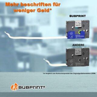 10x Schriftband Kompatibel für Brother TZe221 Schwarz//Weiß 8m//9mm PT-H110 D400AD