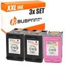 Bubprint 3 Druckerpatronen black 2x + color 1x kompatibel...