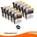 Bubprint 10x Druckerpatronen kompatibel für Brother LC1100 LC980 LC-1100 LC-980 black