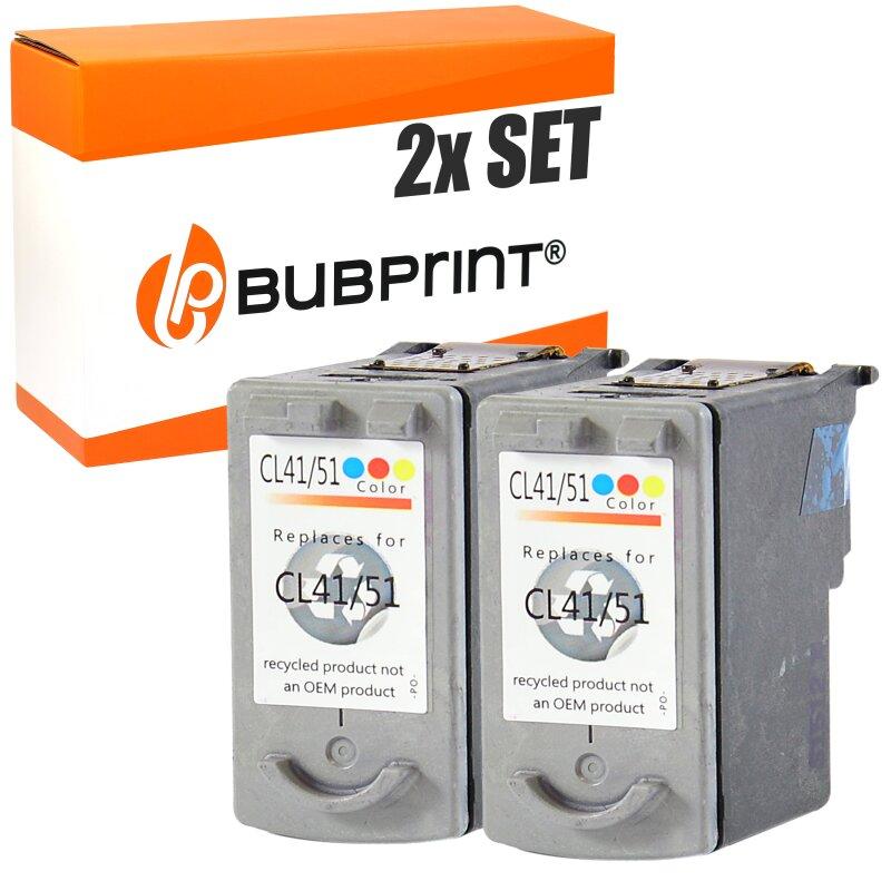 Bubprint 2 Druckerpatronen kompatibel für Canon CL-41 Color