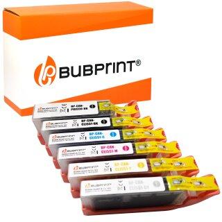Bubprint 6 Druckerpatronen kompatibel für Canon PGI-550 CLI-551 XL mit Chip für Canon Pixma IP 7250 MG 6350 5650 MX 725 925