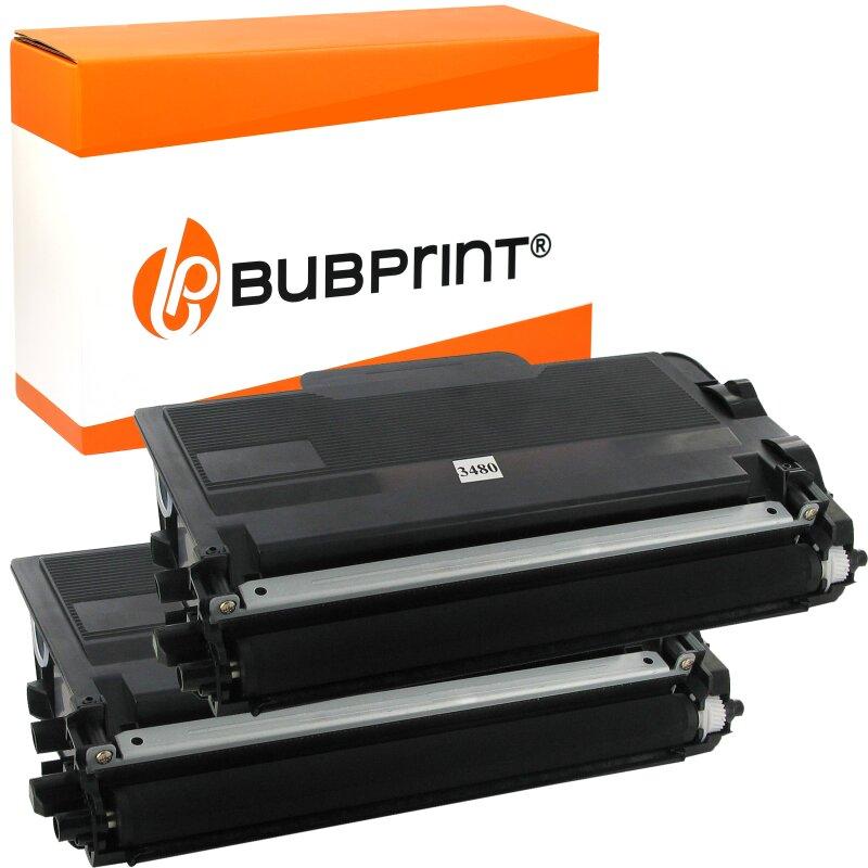 Bubprint 2 Toner kompatibel für Brother TN3480 TN-3480 TN-3430 HL-l5100 HL-l5000 HL-l5200