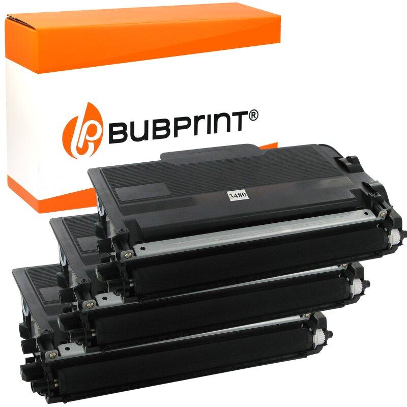 Bubprint 3 Toner kompatibel für Brother TN3480 TN-3480 TN-3430 HL-l5100 HL-l5000 HL-l5200