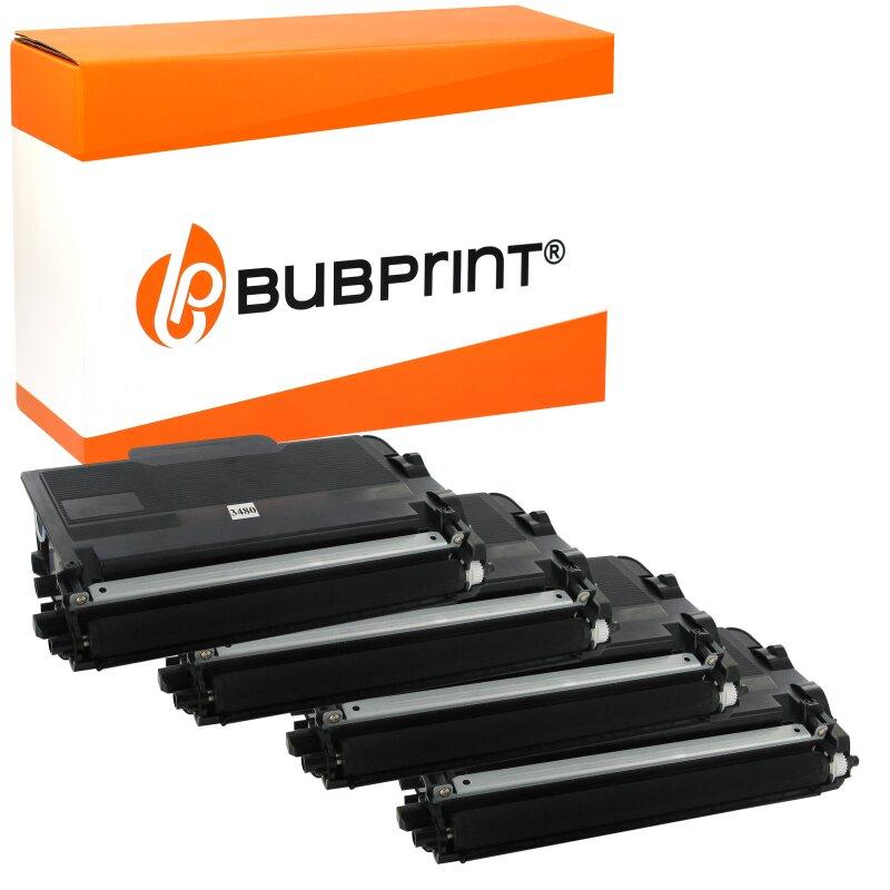 Bubprint 4 Toner kompatibel für Brother TN3480 TN-3480 TN-3430 HL-l5100 HL-l5000 HL-l5200