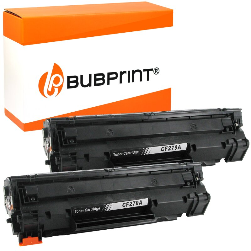 Bubprint 2 Toner kompatibel für HP CF279A black (1000 Seiten) LaserJet Pro M12 M12a M12w M26 M26a M26w