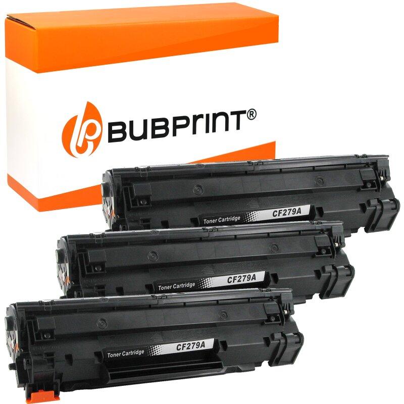 Bubprint 3 Toner kompatibel für HP CF279A black (1000 Seiten) LaserJet Pro M12 M12a M12w M26 M26a M26w